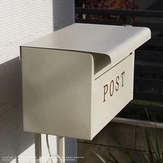 郵便ポストポールセット送料無料ポストスタンドHTN-1ホワイトブラウン幅45高さ105鍵付モダンスタンドセット郵便受けおしゃれアンティーク調夏新生活衣替え家具通販送料込郵便置き型スタンドポスト鍵つき北欧置き型ポストS1