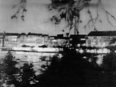 Depictions of landscapes first appear in Gerhard Richter's work in One of the earliest works in which he engages with the genre is the photo painting 'Alster' a nocturnal view of the river based on an image from the German magazine 'Der Stern'. Gerhard Richter, Great Paintings, Magazine Art, Art And Architecture, Art History, Oil On Canvas, Contemporary Art, Art Photography, Fine Art