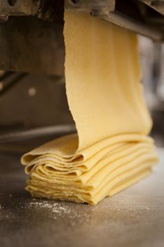 This super easy Egg Yolk Pasta can be made in as little as 15 minutes. A velvety smooth pasta dough made almost entirely in the food processor. Basic Pasta Dough Recipe, Homemade Pasta Dough, Ravioli Dough Recipe Semolina, Noodle Dough Recipe, Semolina Pasta Dough Recipe, Homemade Pasta Recipes, Pasta Recipies, Recipe Pasta, Al Dente