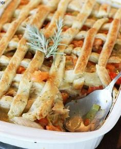 Chicken Pot Pie with Rosemary-Cheese Pastry