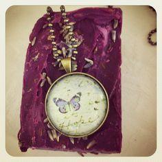 Bellbirds butterfly pendant www.bellbirddesigns.com with lavender soap www.lasirenearomatica.weebly.com Colour Therapy, Lavender Soap, Butterfly Pendant, Pendants, Handmade, Color, Accessories, Jewelry, Design