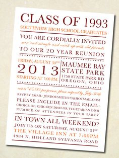 21 Best Exceptional Reunion Invites Images In 2016 High School