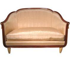 Art Deco Mahogany Settee
