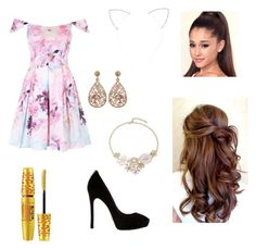 """""""Arianna Grande"""" by character-fashion-27 ❤ liked on Polyvore featuring Forever 21, Design Lab, Luxiro and Maybelline"""