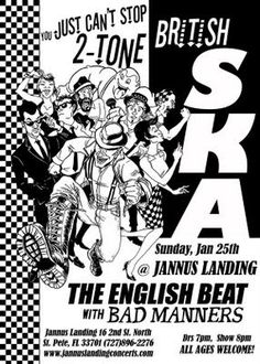 I'm still trying to figure out if I'm going to try to catch the English Beat/Bad Manners show at Irving Plaza this coming Friday (I may have. Skinhead Fashion, Skinhead Girl, The English Beat, Genre Musical, Ska Music, Punk Poster, Ska Punk, Band Posters, Music Posters