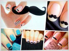 Mostachos Movember, Nail Colors, Fashion Beauty, Nail Designs, Hair Beauty, Nail Polish, Nail Art, Shapes, Nails
