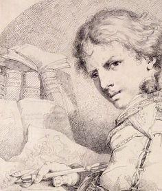 Historical Selfie! James Jefferys (1751-1784), c. 1774/75, History painter.