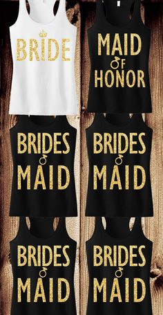 Receive 6 #BRIDAL / #WEDDING  TANKS (1 BRIDE, 1 MAIDOFHONOR, 4 BRIDESMAIDS) & Get 15% Off Bundle + FREE MRS. Tote by #NobullWomanApparel, for only $127.95! Click here to buy https://www.etsy.com/listing/230635411/bridal-wedding-6-tank-tops-15-off-bundle?ref=shop_home_active_13