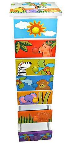 Detská komoda (7 zásuviek) trópy | Obchod-detom.sk - Najlepší ponuka tovaru pre deti - detské bicykle, trojkolky, kolobežky, hračky ...