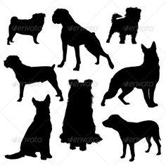 Dog Silhouette - Animals Characters