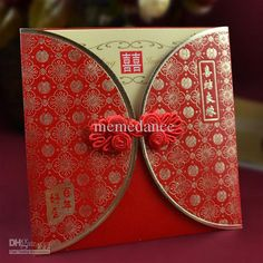 Wholesale Invitation Card - Buy No. 85 Chinese Red Wedding Invitation Card,wedding Card with Chinese Knot 100pcs/lot EMS Free Shippi, $1.13 | DHgate