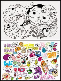 Un super génial graphiste: Chris Piascik!   Toutes ces œuvres et les prochaines sont : Là   Allez voir... C'est top... Ils ADORENT !       ...