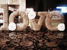Connoisseur of Creativity: DIY - twine wrapped love sign and jar