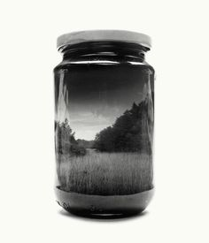 Photographer Collects Hauntingly Beautiful Landscapes in Jars Using Double Exposures - My Modern Met