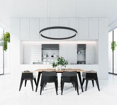 Black and White Dining Room: 25 Ideas for a Home Decor .- Sala Da Pranzo Bianca e Nera: 25 Idee per un Arredamento Chic Black and white dining room 17 -