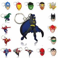 PAPWOO Superman Keychain Marvel Guardians Of Galaxy Super Hero Avenger Keychains - Best Seller List Marvel Heroes, Marvel Avengers, Marvel Comics, Superman, Batman, Guardians Of The Galaxy, Xmas Gifts, Hulk, Vivid Colors