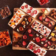 Görüntüsü ile mest eden meyveli çikolatalar!