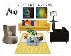 """Vintage living"" by marianaleonluzardo ❤ liked on Polyvore featuring interior, interiors, interior design, home, home decor, interior decorating, Bromi Design, B&B Italia, Pappelina and Moooi"
