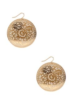 Floral Disc Earrings - FOREVER21 - * Bohemian gypsy appeal *
