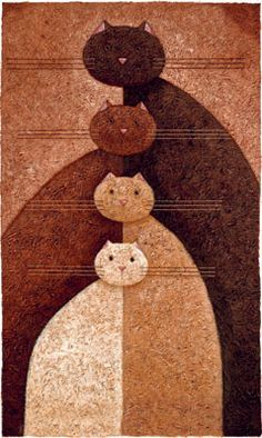 MUST recreate on a quilt! great idea for any art project. Peter Adderley ART -Great idea for Mary who loves cats & quilts Quilting Projects, Quilting Designs, Quilt Modernen, Cat Quilt, Animal Quilts, Cat Crafts, Mug Rugs, Applique Quilts, Rug Hooking