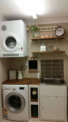 """Exceptional """"laundry room stackable washer dryer"""" info is offered on our website. Take a look and you wont be sorry you did. Laundry Nook, Small Laundry Rooms, Laundry Room Organization, Laundry In Bathroom, Downstairs Bathroom, Washroom, Stackable Washer And Dryer, Laundry Room Design, Closet Storage"""