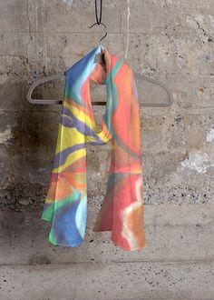Cashmere Silk Scarf - HEAVENLY CASHMERE SILK by VIDA VIDA XhllE