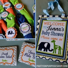 Boy Baby Shower Birthday Party Decorations Package