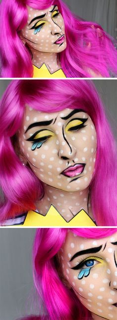 halloween cartoon pop art makeup tutorial hiilen sminblogg skönhetsblogg hiilen videotutorial