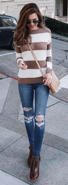 03 looks com calça jeans destroyed   para se inspirar #jeans #moda