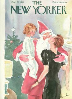 New Yorker 1939- Más portadas en www.adviento.org Adviento, Portadas navideñas y deseos de paz