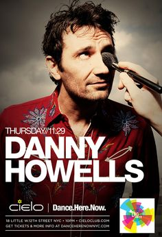 Thursday November 29  Robpromotions & Benny Soto present  Dance.Here.Now.     DANNY HOWELLS  with Naveen G    Advance tickets at http://www.clubtickets.com/us/2012-11/29/danny-howells-cielo      FREE ADMISSION BEFORE 11PM + OPEN BAR (10-11pm) ON THIS LIST: http://www.robpromotions.com/list/cielo112912.html    Cielo  18 Little W.12th Street NYC  Doors open 10pm  www.cieloclub.com    For more info  www.danceherenownyc.com  www.facebook.com/danceherenow  www.twitter.com/danceherenow
