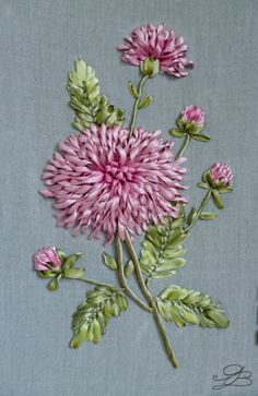 Wonderful Ribbon Embroidery Flowers by Hand Ideas. Enchanting Ribbon Embroidery Flowers by Hand Ideas. Embroidery Supplies, Machine Embroidery Patterns, Hand Embroidery Designs, Embroidery Kits, Embroidery Tattoo, Embroidery Stitches, Embroidery Services, Ribbon Embroidery Tutorial, Silk Ribbon Embroidery