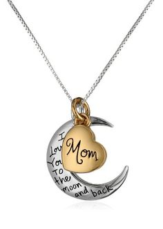 "Fashion Bug Two-Tone ""Mom"" Pendant Necklace, 18"" www.fashionbug.us  #FashionBug"