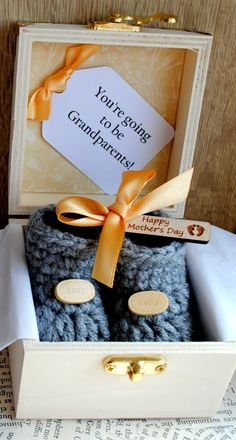 Personalised Pregnancy Reveal To by WeDoSmallOriginals on Etsy