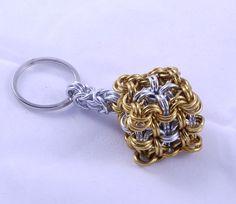 Steampunk Keychain / Metal Keychain / Dice Keychain / Keychains for Women / Holiday Gift Ideas / Key Chain / Keychain / Metal Key Chain