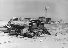 US Medium Tank M3 'Lee' (M3 Lee), was destroyed at the railway station in the fighting in North Africa. Modification of the machine was in service of the British troops, under the designation M3 'Grant'.