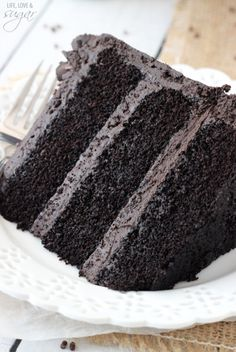 Best Dark Chocolate Cake - incredibly moist and chocolatey!