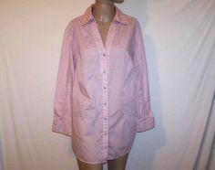 Legging Shirt AVENUE Sz 18/20 Womens Button Long Sleeves Roll Up Button Tabs #Avenue #ButtonDownShirt #Casual
