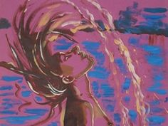 In dit schilderij is de beweging duidelijk zichtbaar. Het meisje zwiept haar haar omhoog. Je ziet het haar ook bewegen. Dit komt door de ronde vorm. Ook het water dat er achteraan vliegt laat de beweging duidelijk zien.