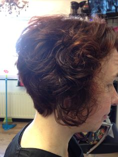 Obsession 4 Hair stylist vikki cut an inverted bob on her client today with naturally curly hair. This style really suits this type hair style