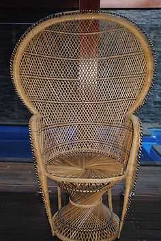 Cane peacock chair. $225 buy it now or offer