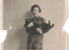 invisiblestories:  Irène Némirovsky (and cat)