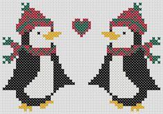 Christmas cross stitch pattern: penguins by MKDesignArt on Etsy