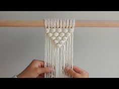 """DIY Macrame Tutorial How To Start Your Work – """"V"""" Pattern Using Berry Knots! – Y… – craft ideas Macrame Wall Hanging Diy, Macrame Curtain, Macrame Plant Hangers, Macrame Art, Macrame Projects, Macrame Youtube, Art Macramé, Macrame Patterns, Diy Tutorial"""