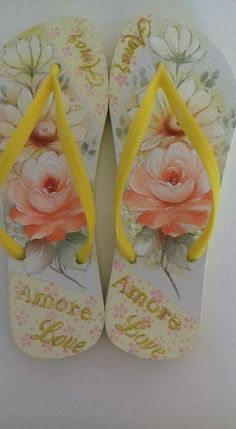 Flip Flop Sandals, Flip Flops, One Stroke Painting, Filet Crochet, How To Make, Bags, Google, Diy Crafts, Easter Crafts