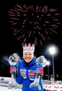 2017-18 IBU Biathlon Overall World Cup Winner - Kaisa Mäkäräinen, Finland.