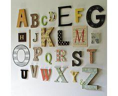 Alphabet Wall For Kids Playroom Abc Wall, Alphabet Wall Art, Letter Wall Art, Kids Alphabet, Alphabet Letters, Alphabet Nursery, Wooden Letters, Nursery Art, Nursery Ideas