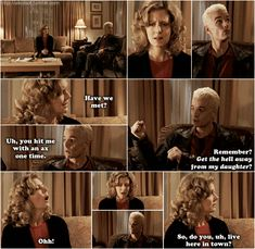 I loved the interactions between Spike and Joyce, they were few and far between but so, so good.