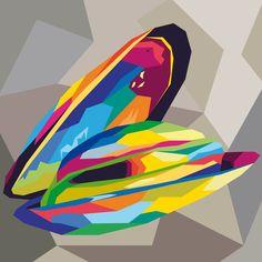 Cozza. Adobe Illustrator. Tecnica Wpap. Autore Anna Favretto 3Al