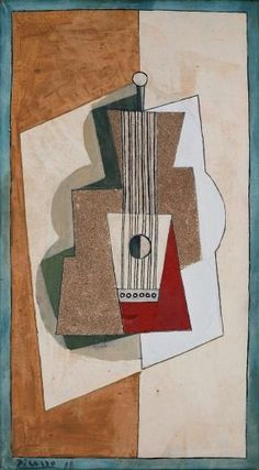 Guitar  (1919) |  Pablo Picasso (1881 - 1973) | Oil and sand on canvas